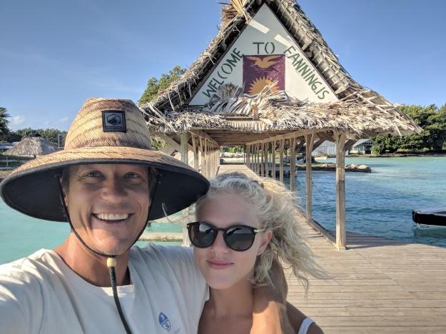 Zingaro Crew on Fanning Island